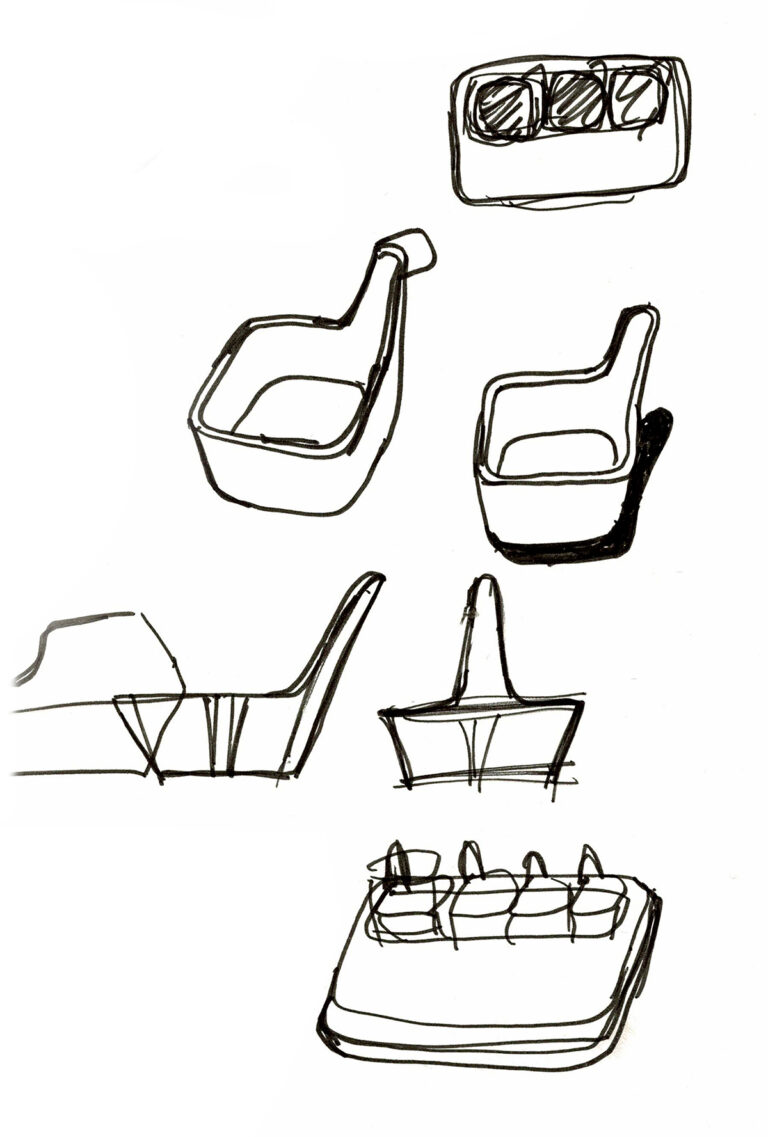 Sketches of the Tapas Serving Set by RigTig